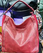 Женская красная сумка на плечо 34*35 см