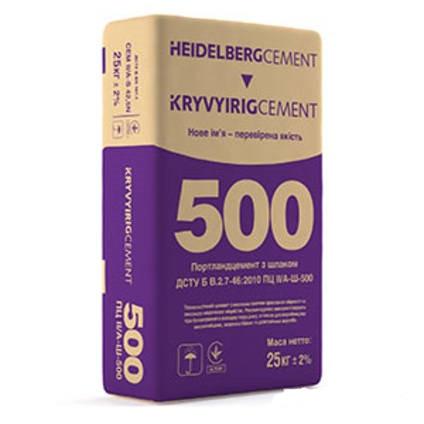 Криворізький Цемент М500, 25кг ПЦ II/А-Ш-500 ВИСОКОМІЦНИЙ ТА ТЕХНОЛОГІЧНИЙ