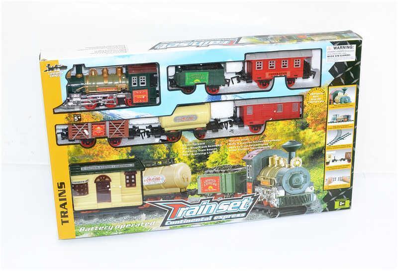 Железная дорога 1209 (12) 18 элементов, свет, звук, длина путей 135 см, в коробке