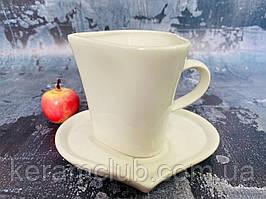 Чашка с блюдцем Керамклуб сердце 200 мл