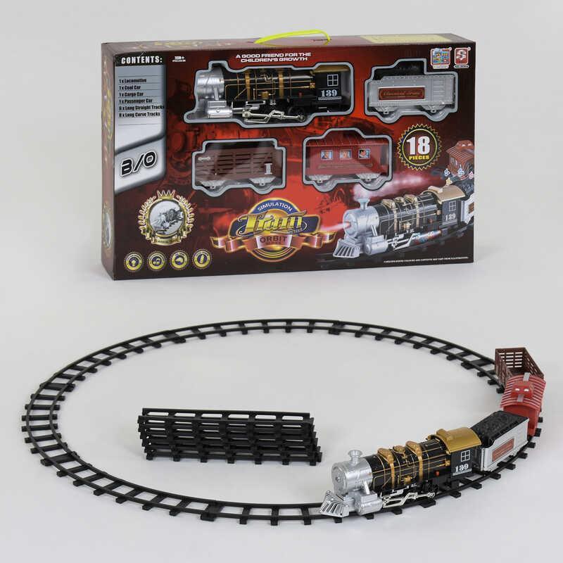 Залізниця 3052 (12) 18 елементів, світло, звук, дим, в коробці