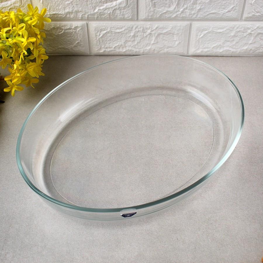 """Овальне скляне блюдо для подачі з високими бортиками Luminarc """"Sabot"""" 3,8 л (P5607)"""