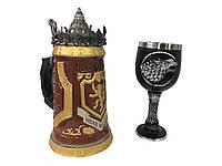 Подарунковий Набір Гуртка Game Of Thrones House Lannister Stein Гра Престолів Будинок Ланністеров і Будинок Старков