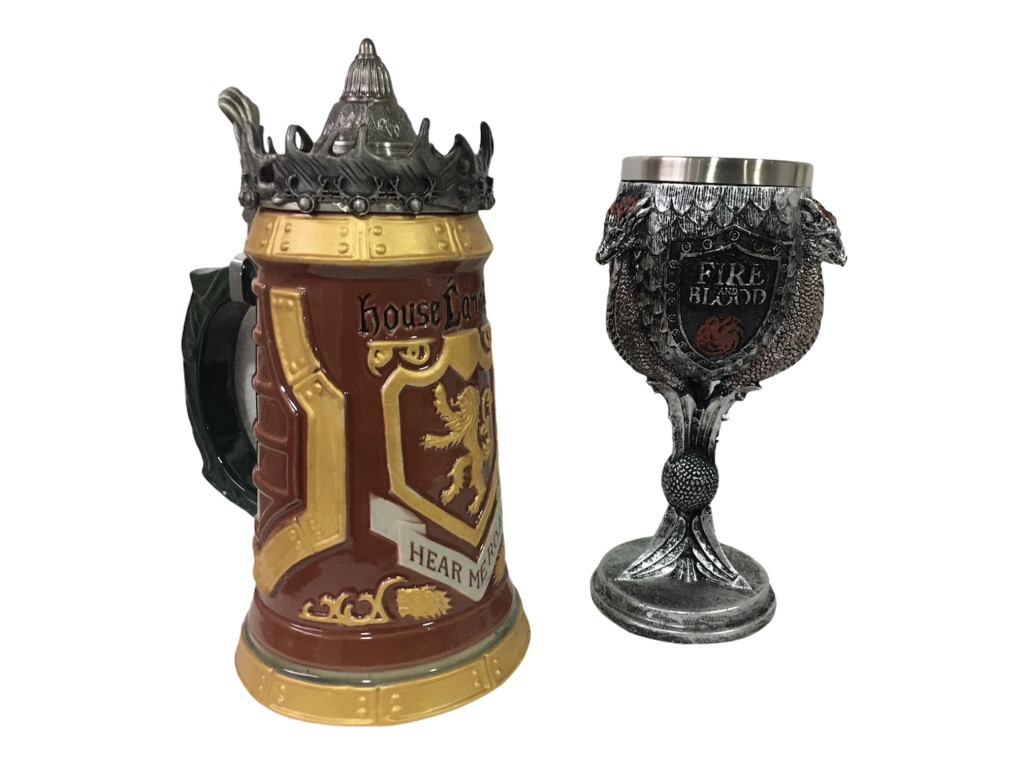 Подарочный Набор Кружка Game Of Thrones House Lannister Stein Игра Престолов Дом Ланнистеров и Fire And Blood