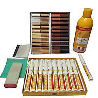Набір для реставрації меблевих поверхонь (м'який віск + меблеві маркери)