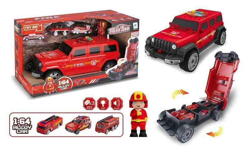 Машина-гараж 660 А-256 (24/2) световые и звуковые эффекты, в коробке