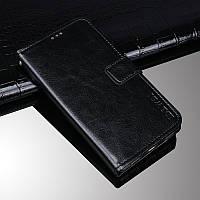 Чохол Idewei для Motorola Moto E7 Plus книжка шкіра PU з візитницею чорний