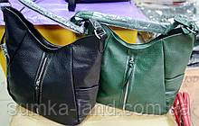Женские сумки на плечо 32*35 см (черная и зеленая)