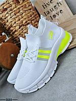 Жіночі кросівки з текстилю на шнурівці 36-41 р білий, фото 1