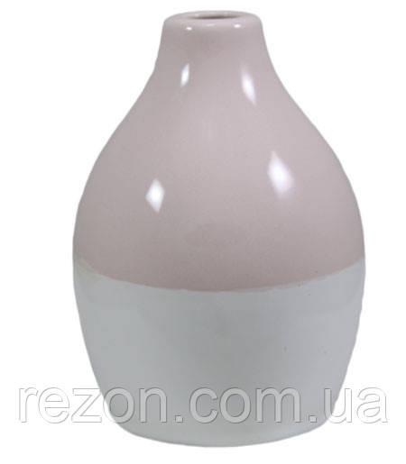 """Ваза керамическая """"VASE BICOLOR"""" Rezon Светло-розовый V2003"""