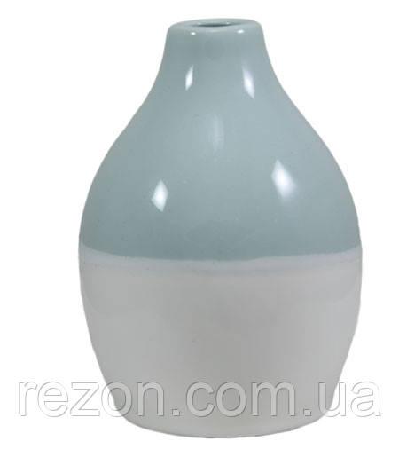 """Ваза керамическая """"VASE BICOLOR"""" Rezon Светло-зелёный V2002"""