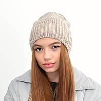 Жіноча шапка veilo на флісі 3389 льон, фото 1