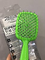 Расческа для волос Janeke 1830 Superbrush, салатовая