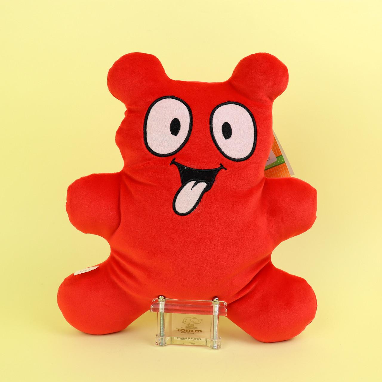 00284-147крас Мягкая игрушка мармеладный мишка Валера красный 30 см тм Копиця