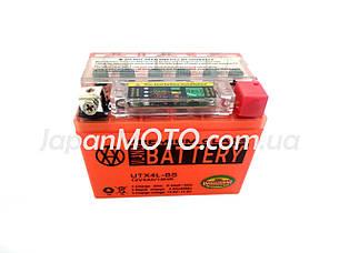 Аккумулятор 4A 12V Honda/Yamaha (YTX4L-BS) VLAND гелевый с датчиком 113x70x87, фото 2