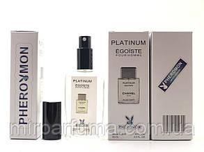 Мужские минипарфумы с феромонами Chanel Platinum Egoiste Pour Homme Pheromon 60 ml копия