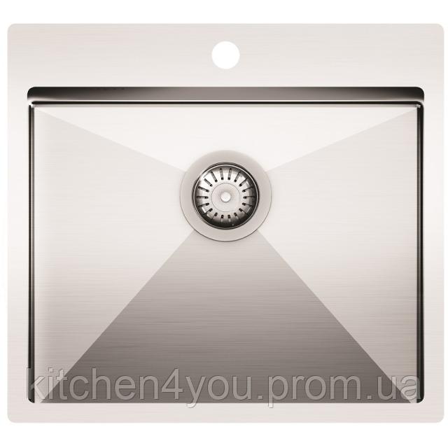 Кухонна мийка з нержавіючої сталі 550x505 мм. AquaSanita LUN100N