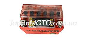Аккумулятор 4A 12V Honda/Yamaha (YTX4L-BS) VLAND гелевый с цифровым вольтметром 113x70x87, фото 2