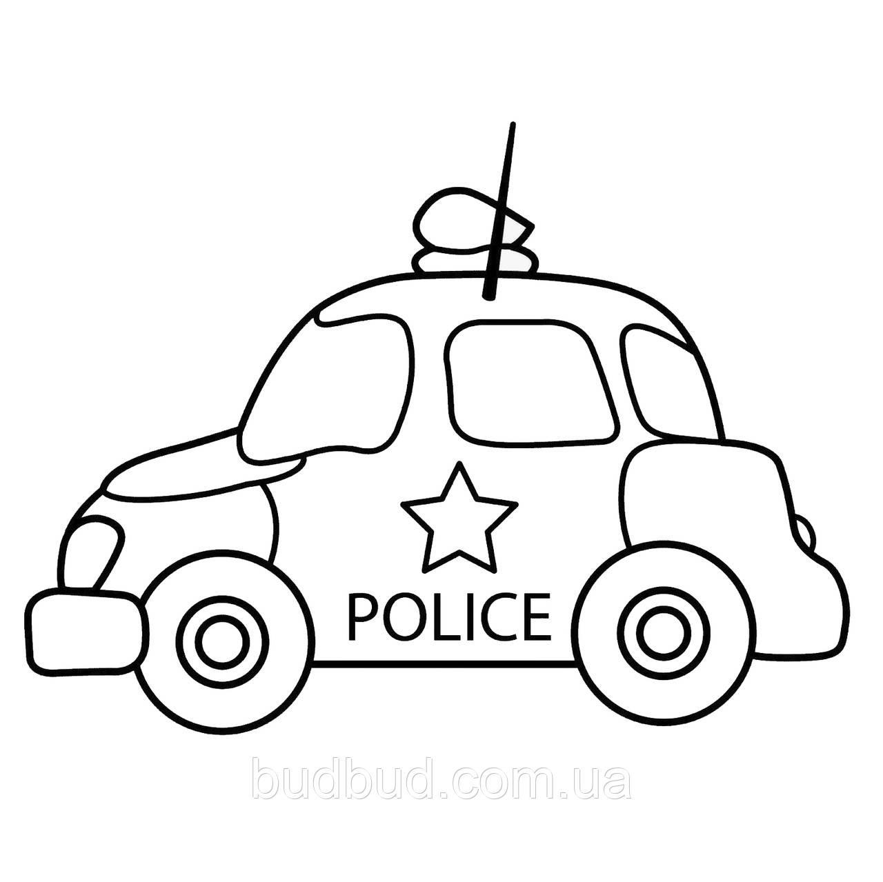 Розпис на полотні KA-025/Поліцейське авто