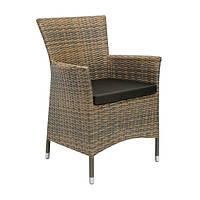 Кресло Викер Капуччино, кресло плетеное, кресло из искусственного ротанга