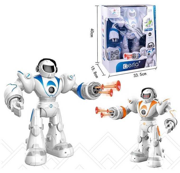 Робот на р/у 99888-2 (12/2) 2 кольори, світло, звук, ходить, співає, танцює, стріляє, програмується,