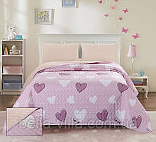 Покривало стьобане ТМ Bliss полуторна 160х220 см рожеве