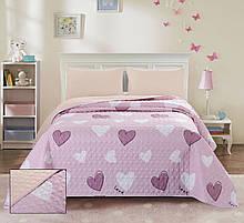 Покрывало стеганое ТМ Bliss полуторное 160х220 см розовое