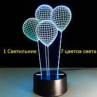 "3D Светильник ,""Шарики"", Подарок ребенку на день рождения, Подарунок дитині на день народження"