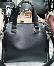 Женская каркасная черная сумка Люкс 26*20 см