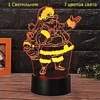 "3D Светильник, ""Санта"" Подарок ребенку на день рождения, Подарунок дитині на день народження"