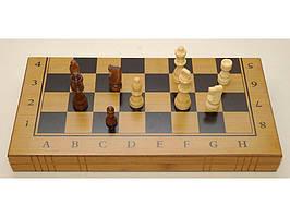 Шахматы 3 в 1 бамбук 40*40см