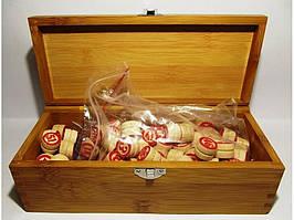 Лото в деревянной коробке, 0874