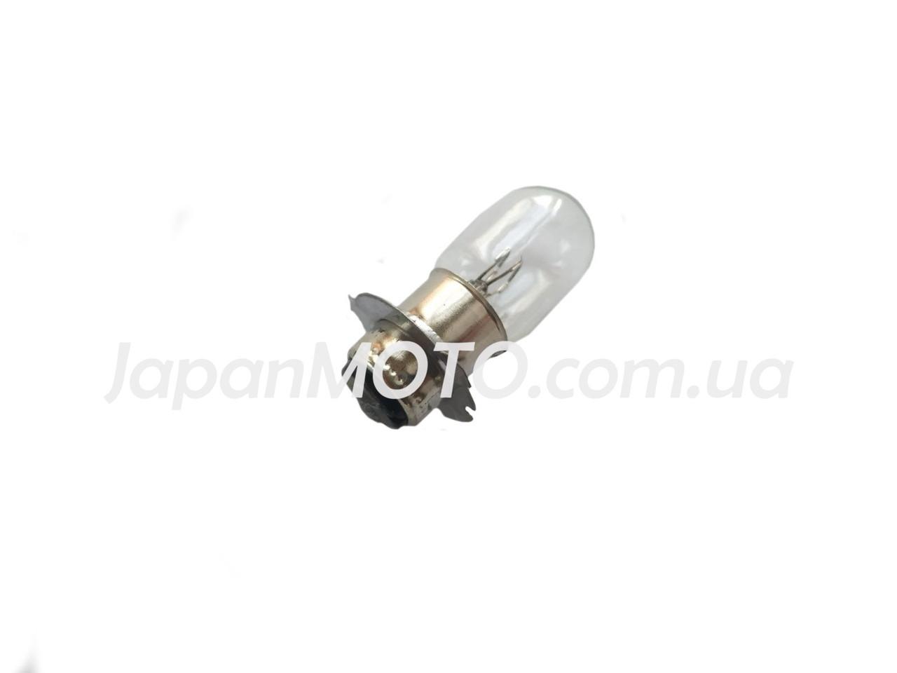 Лампа фари галоген БЕЛАЯ P15D-25-3С короткий цоколь
