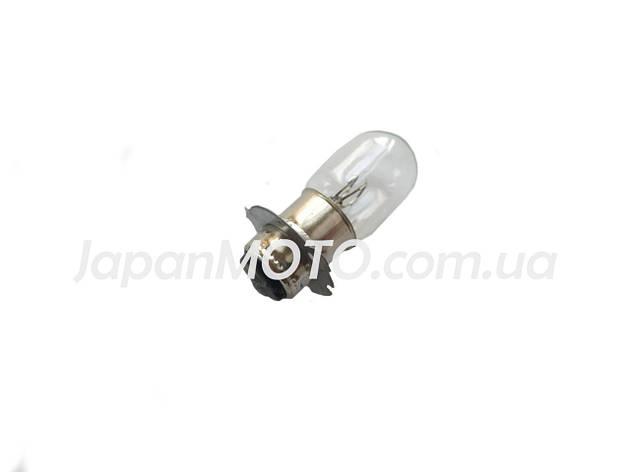 Лампа фари галоген БЕЛАЯ P15D-25-3С короткий цоколь, фото 2
