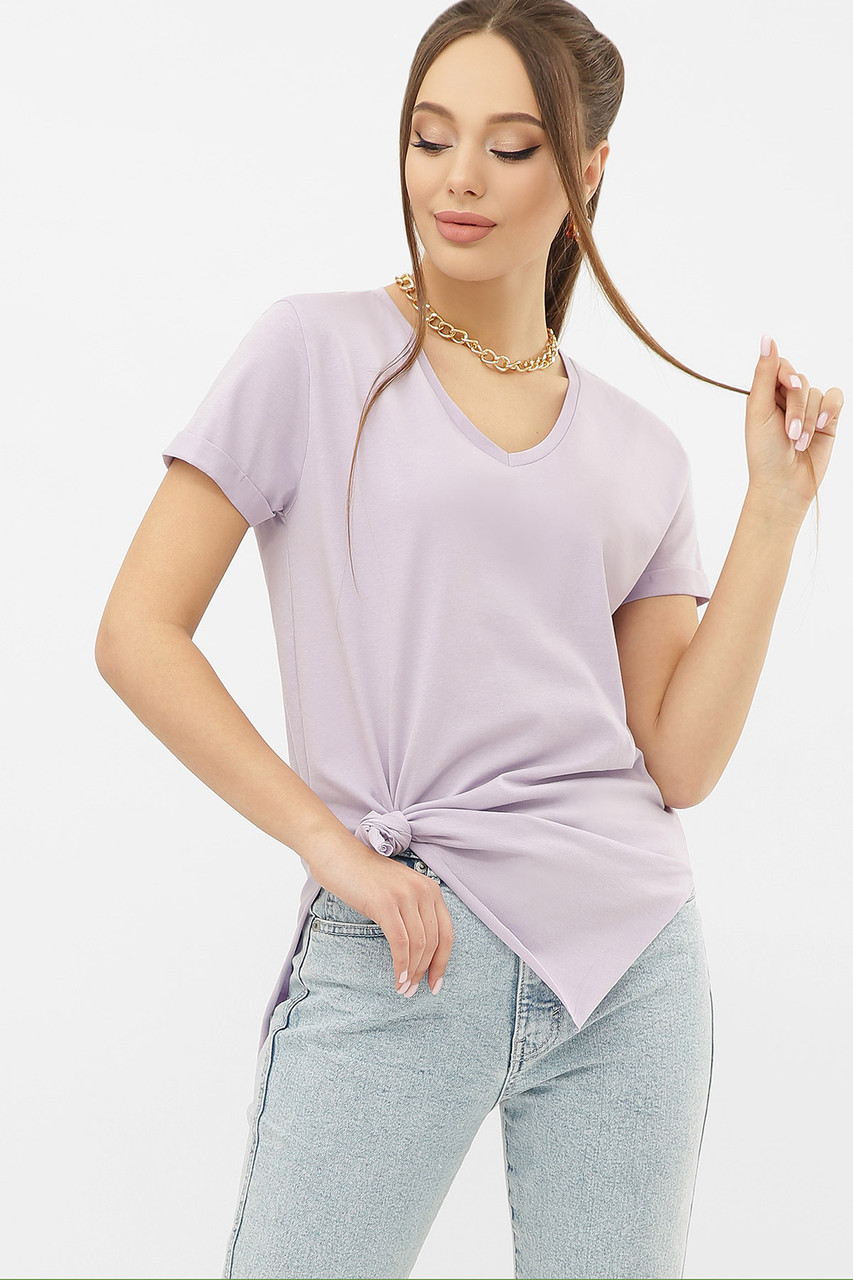 ЖЕНСКАЯ  футболка  Цвет: сиреневый VR Размеры S M L