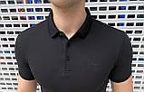 Чоловіча футболка поло Armani H1276 чорна, фото 2