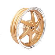 """Диск колеса задний (титановый) 10"""" HONDA DIO/TACT золотистый (22 шлица)"""