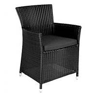 Кресло Викер Чёрный, кресло плетеное, кресло из искусственного ротанга