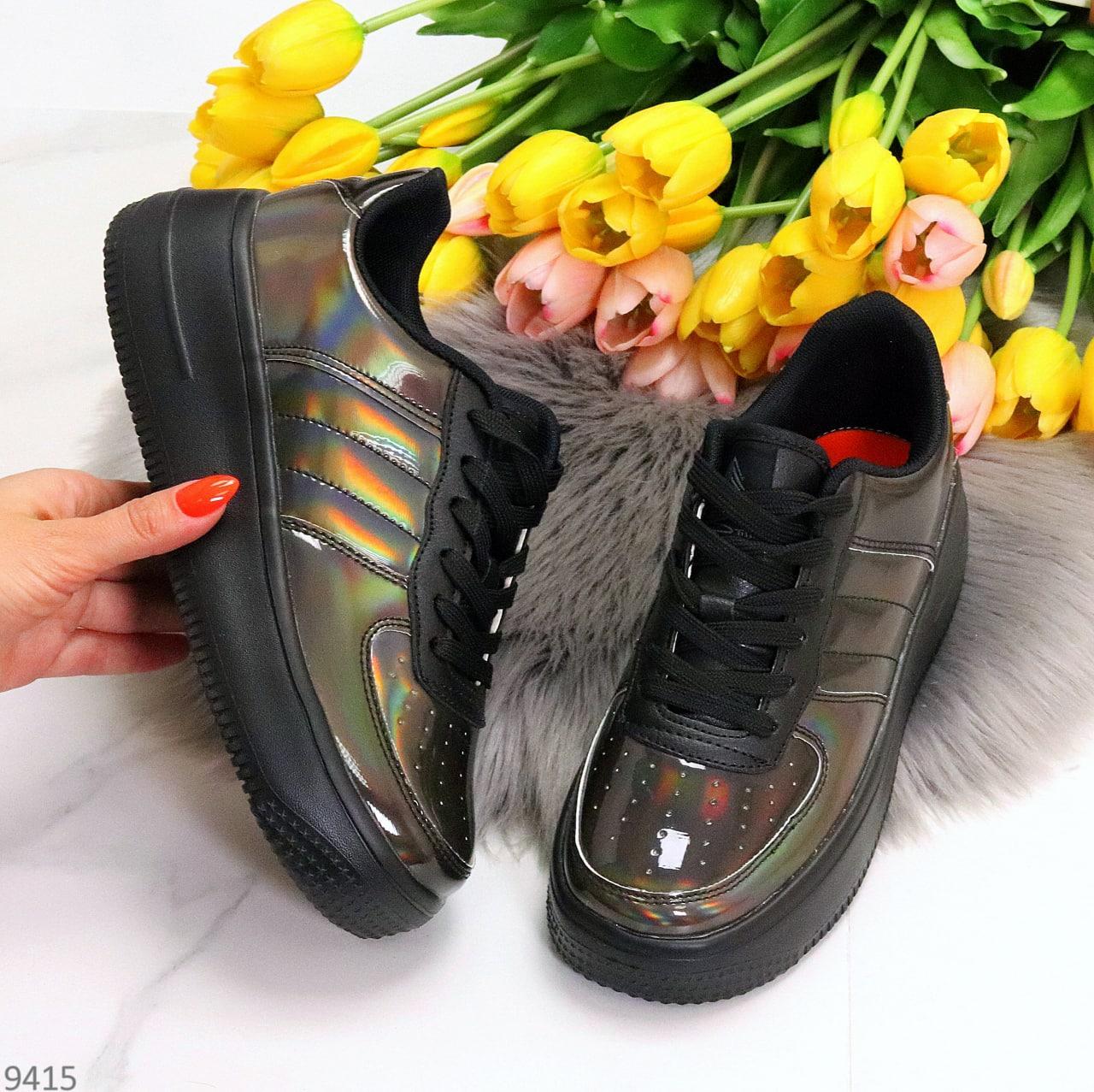 Кросівки / кеди жіночі нікель/темне срібло еко шкіра-лак весна/ осінь