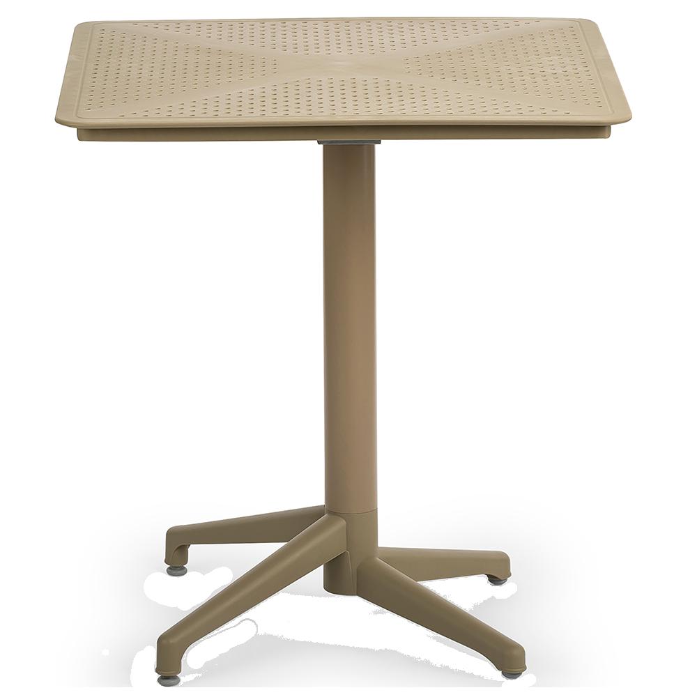 Стол с откидной столешницей Tilia Moon 70x70 см цвет кофе