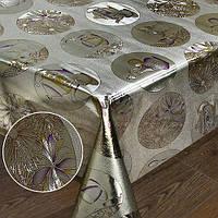 Клеенка с напечатанными рисунками на ткани Версаль Stenson размер 1,37х20м, золото/серебро, ПВХ, клеенка в