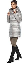 Куртка фірмова жіноча осінньо-весняна перламутровий колір світло-сірий модель 65085