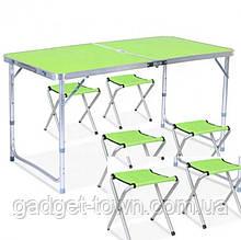 Стол раскладной для пикника + 4 стула, чемодан
