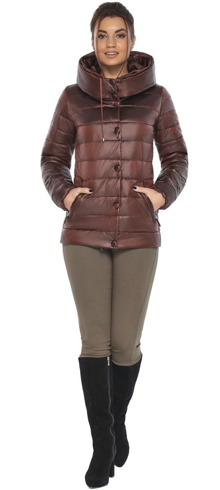 Куртка каштановая женская осенне-весенняя модель 61030