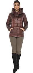 Куртка каштанова жіноча осінньо-весняна модель 61030