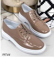 Жіночі туфлі кавові на плоскій підошві NINA_MI