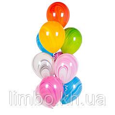 Шарики на день рождения, связка шаров супер-агаты