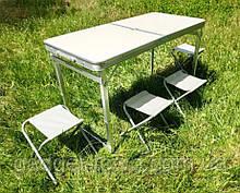 Усиленный стол для пикника, раскладной чемодан, 4 стула Усиленный/Крепкий