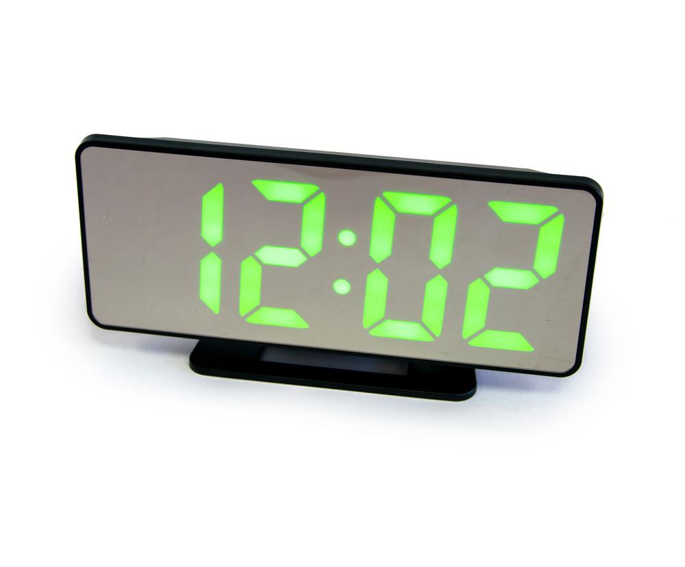 Годинники настільні електронні світлодіодні VST-888, годинник з барометром і термометром, заркально годинник