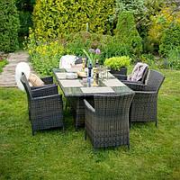 Кресло Викер Тёмно-коричневый, кресло плетеное, кресло из искусственного ротанга